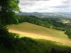Les crêtes des Monts du Lyonnais